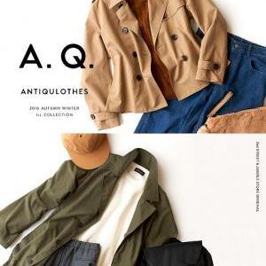 A.Q.16AWメンズ新作入荷!