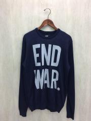 セーター(薄手)/XL/アクリル/NVY