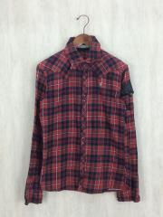 スワロフスキーネルシャツ/2/コットン/RED
