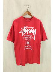 ×SWAGGER/Tシャツ/L/コットン/RED/プリント
