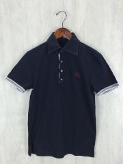 ポロシャツ/2/コットン/BLK