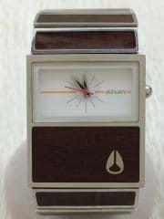 クォーツ腕時計/アナログ/3針/レクタンギュラ/WHT