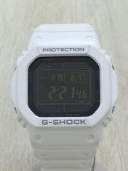 ソーラー腕時計/アナログ/BLK/WHT