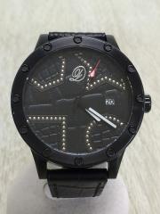 クォーツ腕時計/アナログ/ブラック