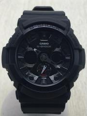 クォーツ腕時計/デジアナ/BLK