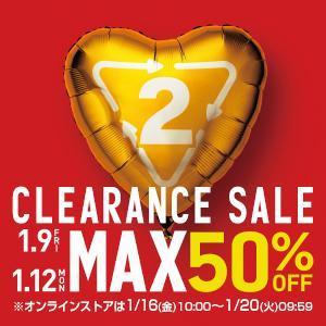 2015.CLEARANCE SALE開催!! 1/9[金] - 1/12[月]